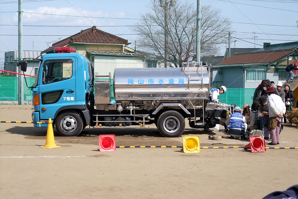 This is a water truck from Okayama City